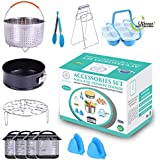 Roxy Sunshine Instant Pot Accessories Set-Fits 6,8 Qt Pressure Cooker, Steamer Basket/Egg Steamer Rack/Egg Bites Molds with Handles/Non-stick Springform Pan/Kitchen Tongs,Magnetic Sheets, Silicon