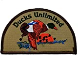 Ducks Unlimited DU Wetlands Waterfowl Wildlife 3.7' x 2.5' Iron-on or Sew-on Embroidered Applique Emblem Patch/Badge Perfect for Dress Hats Caps Jeans Jackets Shirts Backpack Gifts and Accessories