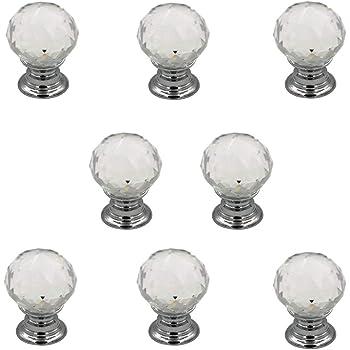 Jingyi E-commerce 8 Pcs Crystal Cabinet Drawer Mini Metal Jewelry Box Gift Case Knobs Single Hole Pull Handles