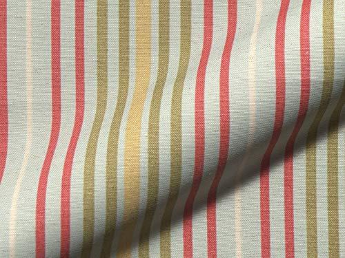 Raumausstatter.de Möbelstoff Porta 725 Streifenmuster Farbe Multicolor als robuster Bezugsstoff, Polsterstoff bunt gestreift zum Nähen und Beziehen, Polyester, Baumwolle, Leinen
