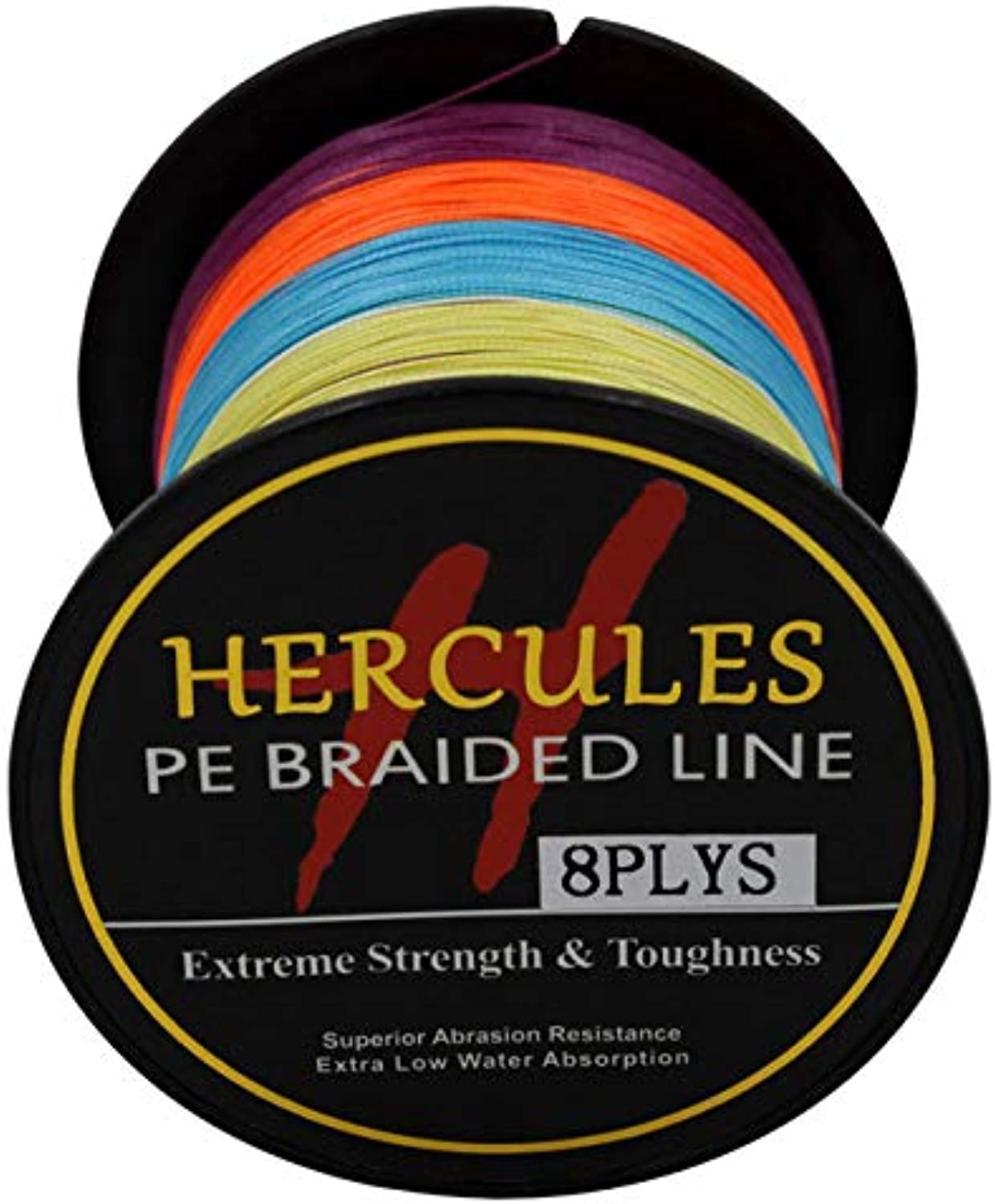 CUSHY Hercules 8 Strands PE Braided Fishing Line Saltwater Fishing Weave Extreme Super Strong Super Power Casting 100M  Multi, 32.0