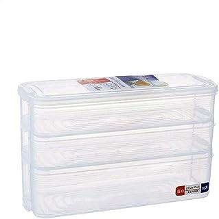 Bac Organisateur Frigo, Boite Rangement Frigo Transparent Réfrigérateur Empilable avec Couvercle pour Fromage, Jambon, Via...