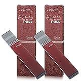 Ezee Puff Cigarrillo Electrónico Desechable sabor a Maracuyá e-liquido Sin Nicotina y sin Tabaco E-Cigarrillo para vapear 280 mAh Batería Paquete de 2