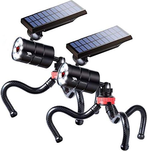 Solar Motion Sensor Light Outdoor Spotlight of 2 LED 1400 Lumens 9W 130W Equi Aluminum Solar product image