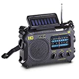 HQ ISSUE Multi-Band Dynamo/Solar Powered Weather Radio, Black
