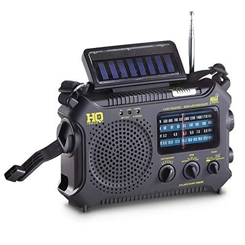 HQ ISSUE Multi-Band Dynamo/Solar Powered Weather Radio, Black