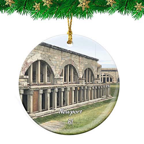 Weekino Newport Fort Adams State Park Rhode Island USA Christmas Ornament Travel Souvenir Personalized Christmas Tree Pendant Hanging Decoration