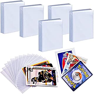 500 Penny Sleeves Trading Card Protector Compatible with Pokemon, Top Loader Baseball Football Basketball Sport Cards Slee...
