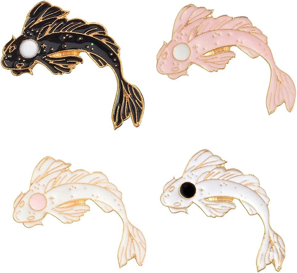 Novelty Brooch Enamel Pins Set Cartoon Animals Pins Decoration for Women Boys Girls Men Bag Jackets Hats
