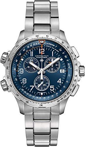 Reloj Hamilton Khaki X-Wind GMT Chrono Cuarzo Brazalete Acero H77922141
