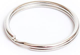 50PCS Lead Free Nickel Plated Steel Round Split Ring Key Rings - Heat Treated for Strength - 1.2