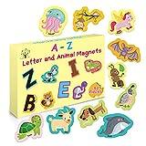 52 Pcs Animal Magnets Alphabet Letters Fridge Magnet 52 Educational Toy Set for Toddler Kids