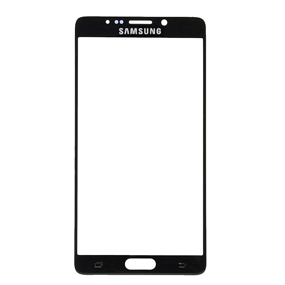 2 Pack - Front Glass Lens for Samsung Galaxy Note 5 - Black Sapphire