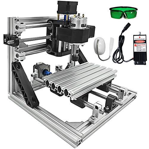VEVOR 500mW CNC 1610 Router Kit Controllo GRBL Macchina a controllo numerico Fresatrice a 3 assi con testa laser per sculture in legno PVC plastic