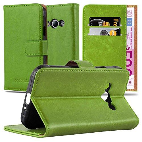 Cadorabo Hülle für Samsung Galaxy Xcover 3 in Gras GRÜN – Handyhülle mit Magnetverschluss, Standfunktion & Kartenfach – Hülle Cover Schutzhülle Etui Tasche Book Klapp Style