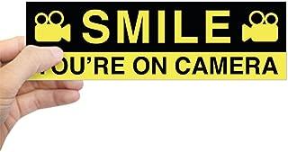CafePress Smile You???Re On Camera Bumper Sticker 10