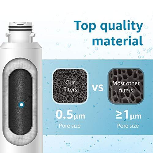 Samsung DA29-00020B Refrigerator Water Filter Replacement by Waterdrop, Compatible with Samsung DA29-00020B, DA29-00020B-1, Haf-Cin/Exp, 46-9101, RF4267HARS, 3 Filters