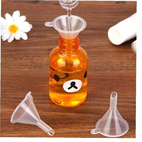 Mini Transparent Trichter Kunststoff Parfüm Emulsion Hopper Paacking Gadgets 10pcs