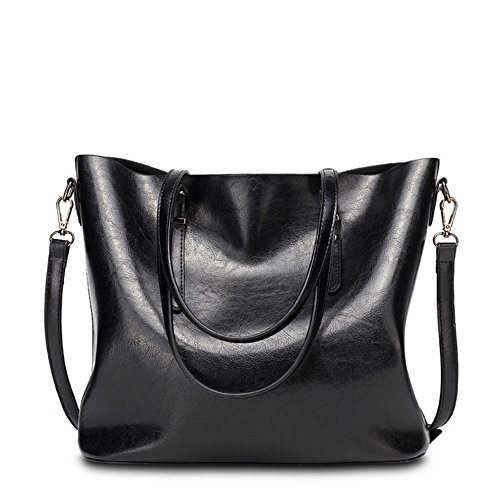 VANCOO delle signore delle donne borsa di cuoio Large Tote Bag spalla della borsa del 1108