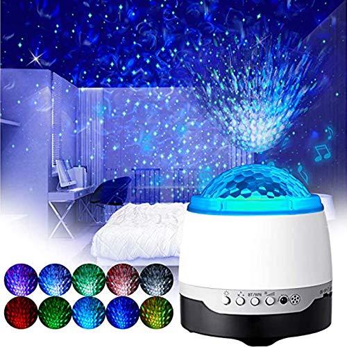 Proyector De Luz De Estrella LED, Altavoz Bluetooth Incorporado, Proyector De Estrella De Luz Nocturna Con Control Remoto De Altavoz De Música, Para Niños, Adultos, Regalos, Decoración De Fiestas