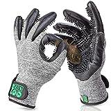 DR Zoo Gr. L Fellpflegehandschuh Paar zur Fellpflege - Handschuh für Hund, Katze, Pferde und Kaninch