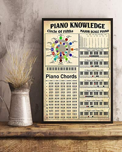 Fantastic Prices! HolyShirt Piano Knowledge Circle of Fifths Major Scale Piano Piano Chords Poster f...