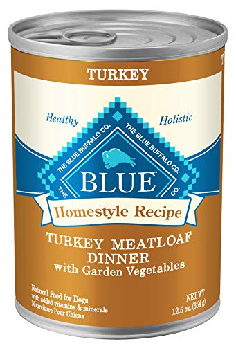 Blue Buffalo Homestyle Recipe Natural Adult Wet Dog Food, Turkey Meatloaf 12.5-oz can (Pack of 12) (Best Filet Mignon Recipe Bobby Flay)