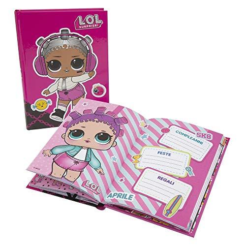 Giochi Preziosi LOL 19 Diario Scuola 10 Mesi, Formato Standard, 320 Pagine, Grafiche Assortite