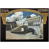 ZNNHEROCarteles De Viaje Vintage Ravenna-Italia Póster Clásico Impreso Lienzo Pintura Arte De La Pared Decoración del Hogar-50X70Cmx1 Sin Marco