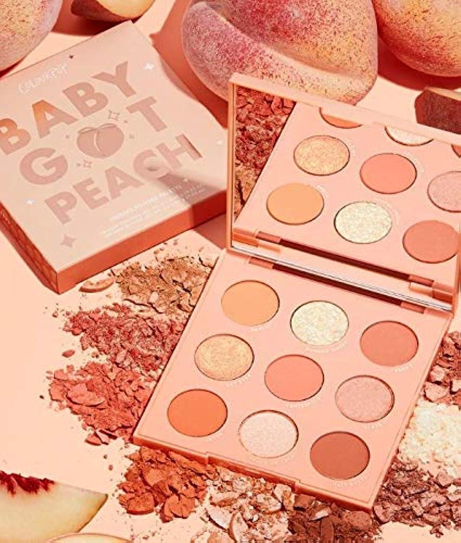 手書き保持カラーポップ (ColourPop)baby got peach アイシャドウパレット