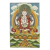 Prime Feng Shui Seidenstickerei tibetische Thangka mit