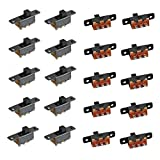 Qiying 20PCS Miniature Slide Switch SS-12F16 G4 with Stand 3 Pin 2 Position on/Off Latching Toggle Switch