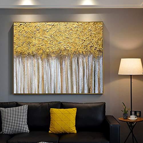 Geiqianjiumai moderne abstracte olie schilderij canvas kunst geschenk huisdecoratie woonkamer muur kunst frameloze schilderij