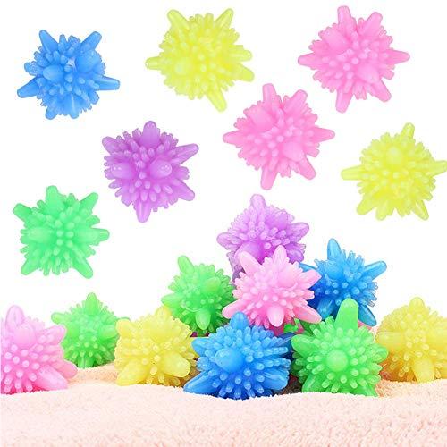JPYH 20 Piezas Lavado de Pelotas, Bola de Limpieza de Ropa,para Lavadora, Secadora, Bola de Lavado de Plástico Macizo, Reutilizable, Bola Antienvolver (Color al Azar)