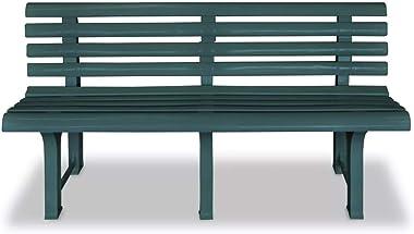 Tomaino Panchina da Giardino in plastica 3 posti (Verde)