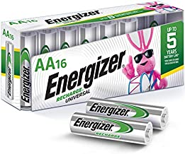 Energizer Rechargeable AA Batteries, NiMH, 2000 mAh, Pre-Charged, 16 count (Recharge Universal)