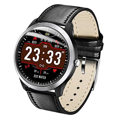 Sports Record Smart Watch Ip67 Diseño a Prueba de Agua Monitoreo de Datos ECG Mensaje de selección de Modo Deportivo múltiple Smart Push, Negro
