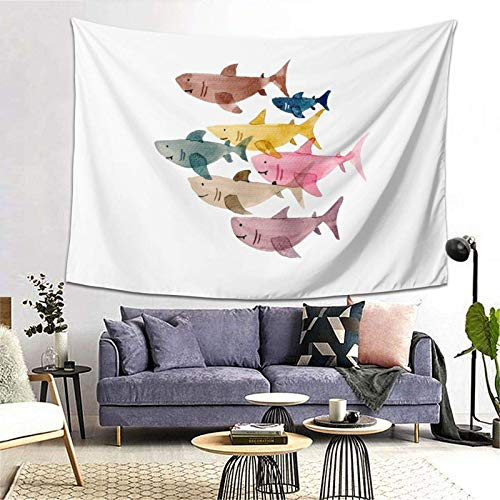 GFHUTGD CGNGFNG - Tapiz de pared con estampado de peces coloridos para colgar en la pared para dormitorio, sala de estar, dormitorio, decoración de dormitorio universitario, (203 x 152 cm)