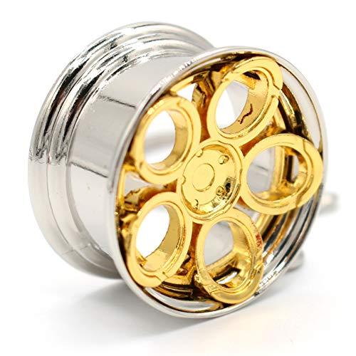 VmG-Store Elipsenfelge Schlüsselanhänger Felge Metall Anhänger (Gold)