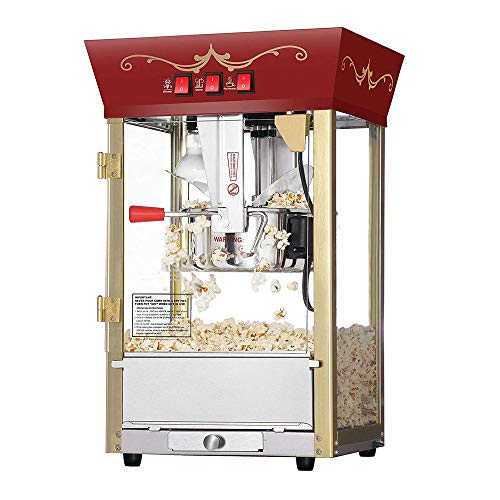 Check Out This CHENJIU Popcorn Red Matinee Movie Theater Style 8-Ounce Antique Popcorn Machine