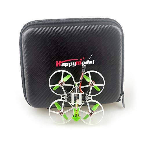 HAPPYMODEL Moblite7 1S 75mm Ultra Light brushless FPV Racing Drone Compatible for Whoop DiamondF4 FR Built-in SPI 19000KV Motor 800TVL Camera Mini Drone with Carry Bag (Receiver Compatible for Frsky)