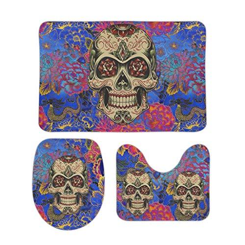 Vrnceit Hippie Rechthoekige Welcome voetmatten-set, perfecte kleur/sober voor garage