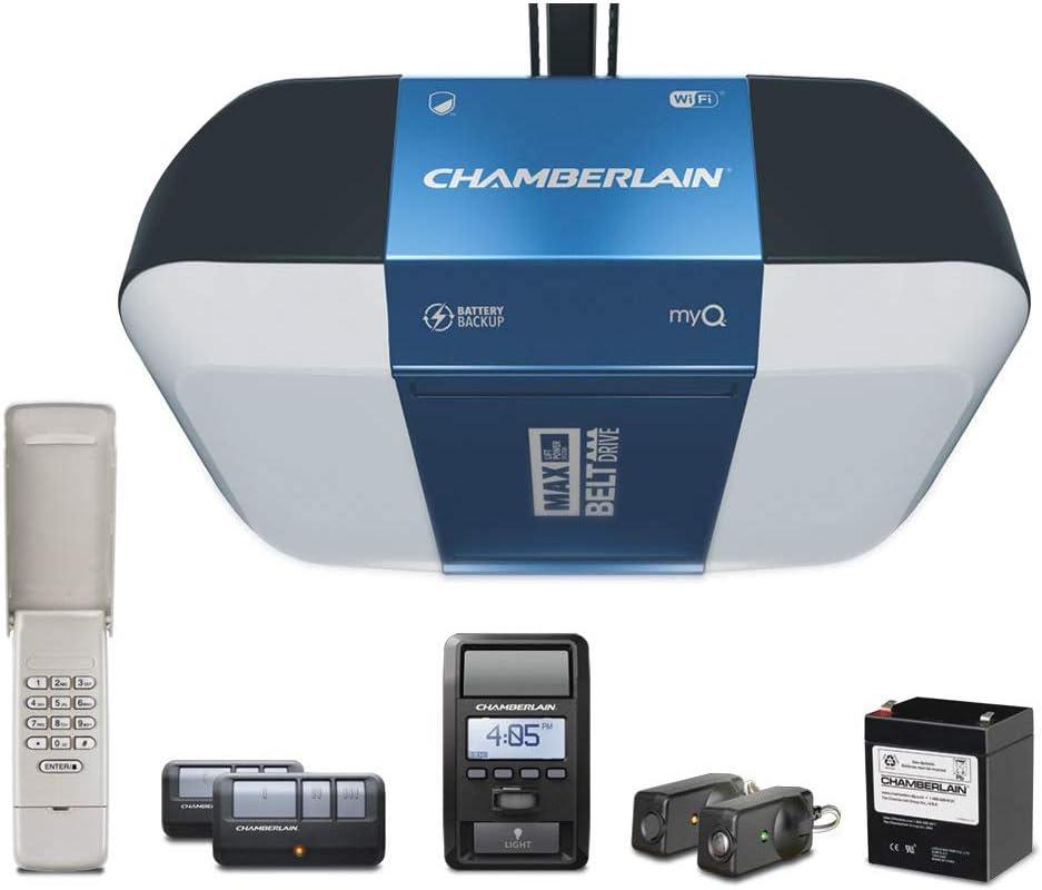 Chamberlain Bright LED Lighting Smartphone-Controlled Garage Door Opener