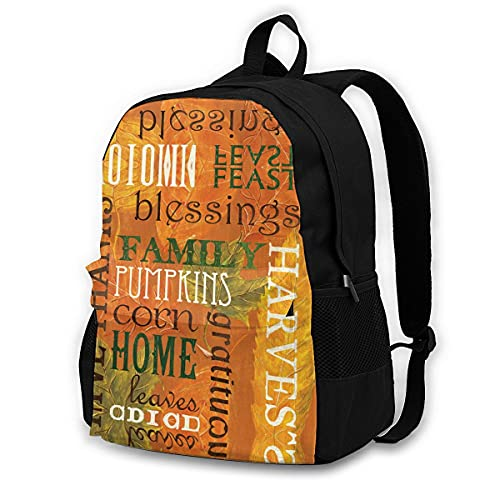 huobeibei Leaf Backpacks Runner Mochila grande y elegante Bolsas de poliéster para viajeros 17 pulgadas 7