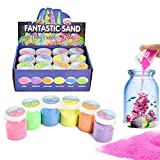 XIAOHONG 12 Pack Magic Sand, 4lbs - Atlantis Sand, Fantastic Sand Never Gets Wet Magic Sand - Amazing Hydrophobic Space Sand,Colored Play Sand Toys for Kids & Adults - 6