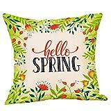 SIRIGOGO Fundas de almohada decorativas de otoño 2019 para decoración al aire libre, primavera, otoño, hojas de arce,...
