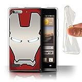 Hülle Für Huawei Ascend G6 Superheld-Helm Rot/Silber