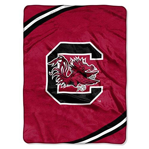 NCAA South Carolina Fighting Gamecocks Force Royal Plush Raschel Throw Blanket, 60x80-Inch