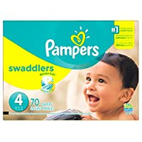 Pampers Swaddlers Diapers Size 4 Super Pack 70 Count, 70 Count by Pampers