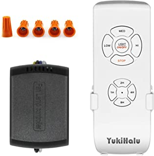 YUKIHALU 3-in-1 Small Size Universal Ceiling Fan Remote Control Kit with Light and..